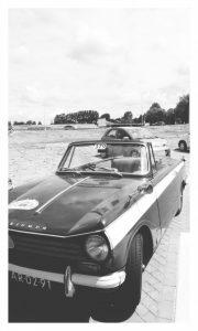 De gehuurde Triumph Herald uit 1969