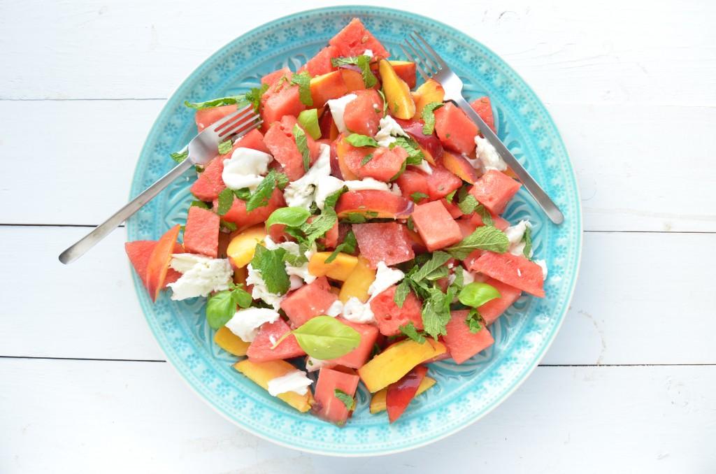 salade frambozen geitenkaas