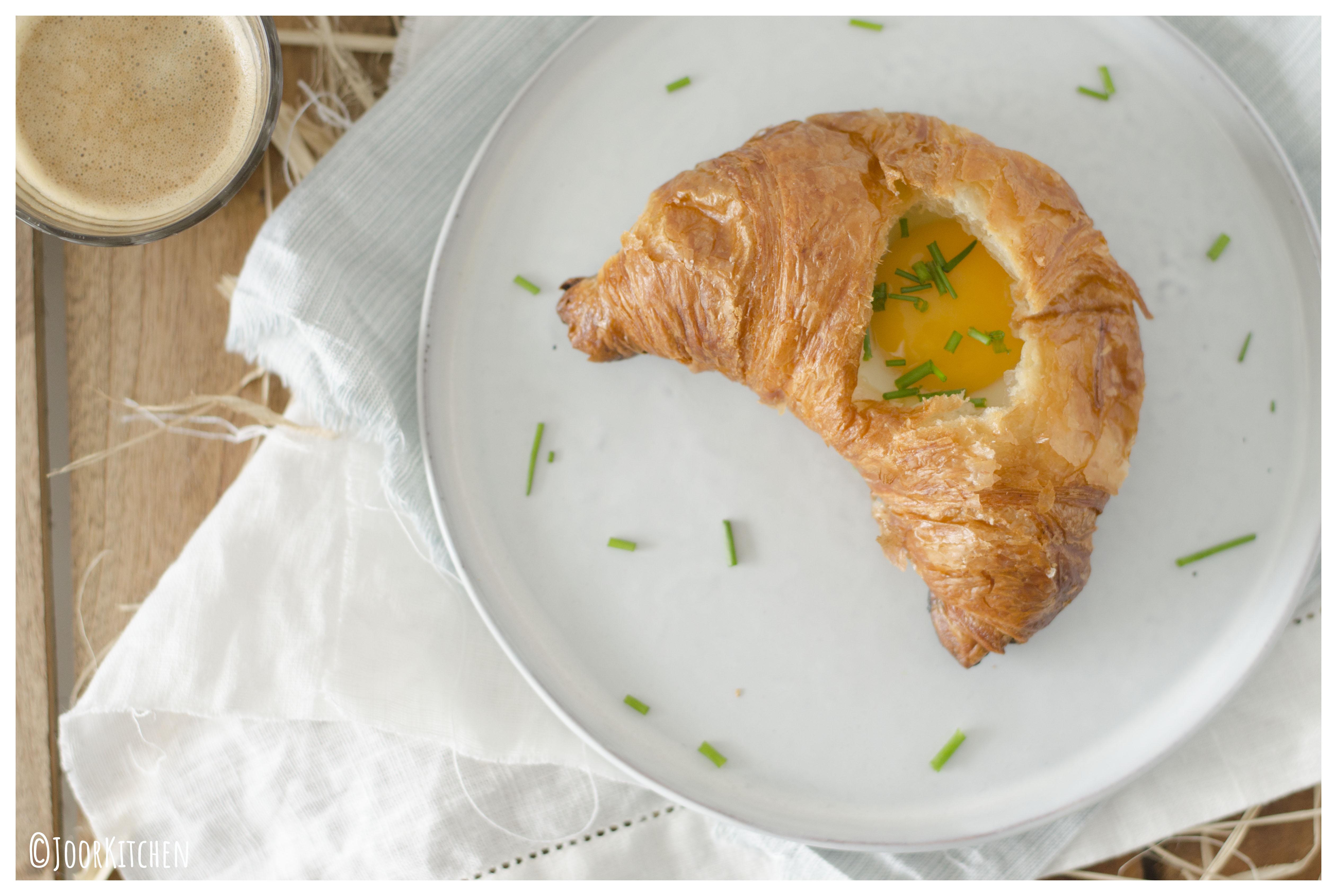 croissant met ei