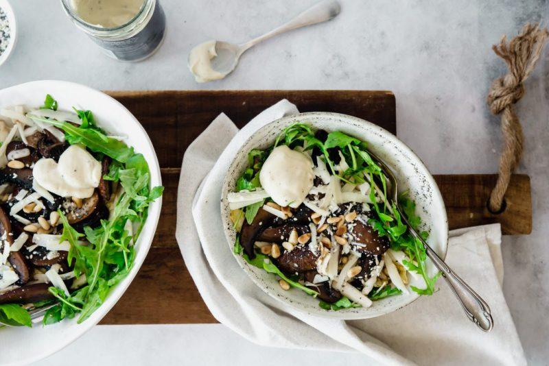 makkelijke salade met truffelmayonaise