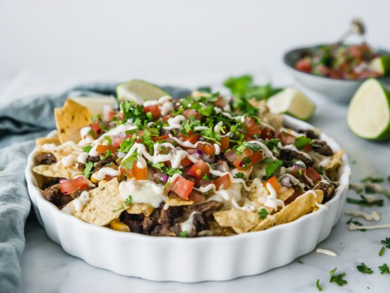 Loaded nacho's met Pulled Oats