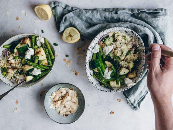 couscoussalade met groene groenten